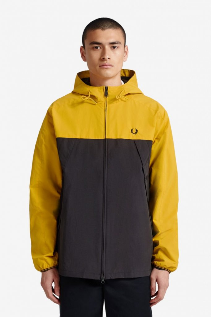 Fred Perry Colour Block Panel Jacket Yellow