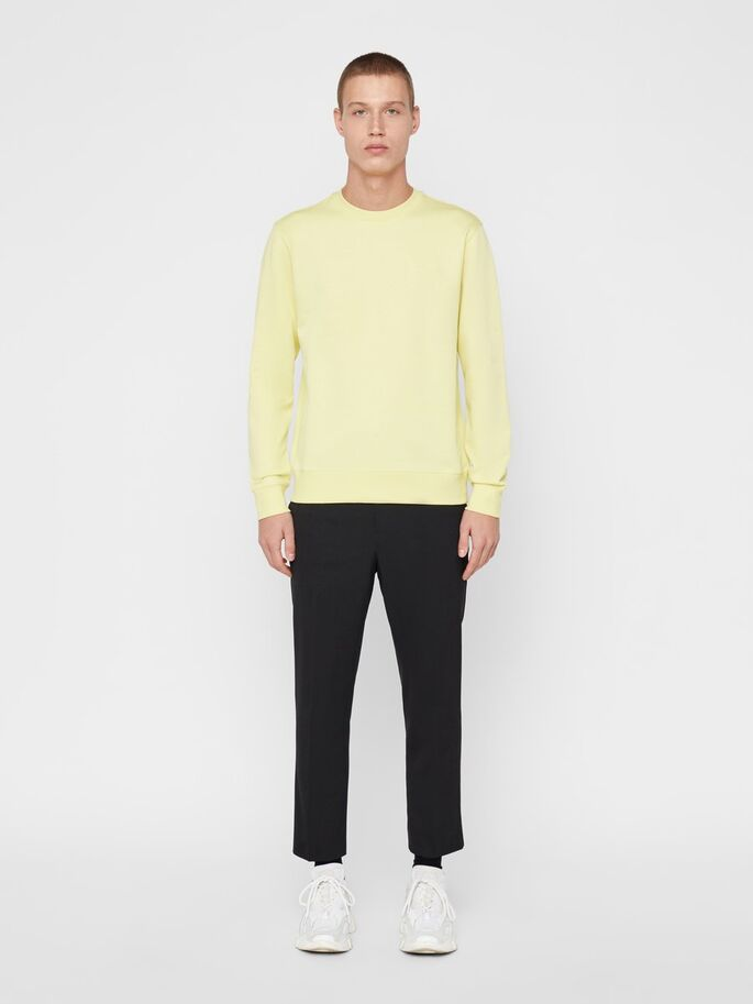 J.Lindeberg Throw C-Neck Clean Sweater Yellow