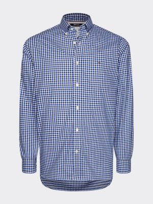 Tommy Hilfiger Menswear Flex Multi Gingham Shirt Blue