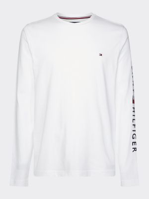 Tommy Hilfiger Logo Long Sleeve T-shirt White