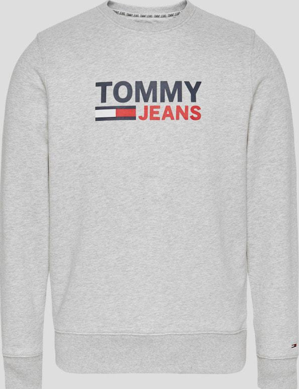 Tommy Jeans Logo Crew Sweater Grey