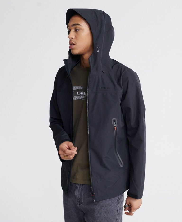 Superdry Hydrotech Waterproof Jacket Black