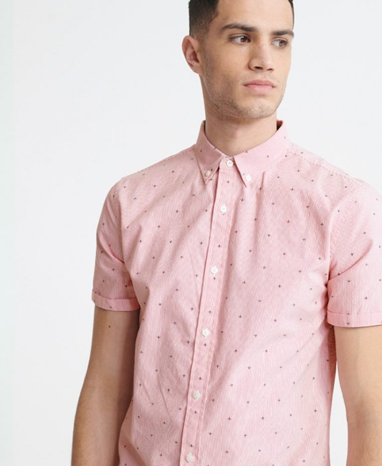 Superdry Shoreditch Print Shirt Pink