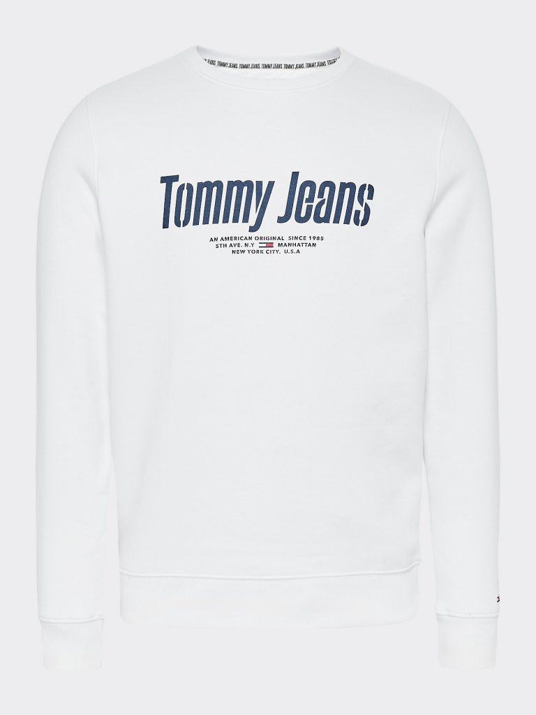 Tommy Jeans Essential Graphic Crew White