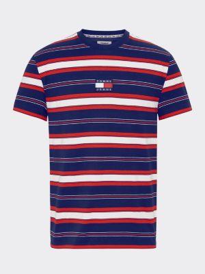 Tommy Jeans Stripe Logo Tee Navy