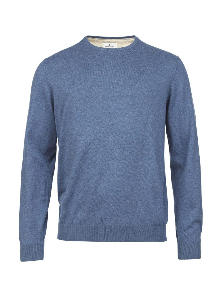 Hansen & Jacob Cotton Cashmere Crewneck Blue