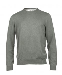 Hansen & Jacob cotton cashmere crew green