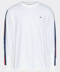 tommy jeans long sleeve tape tshirt