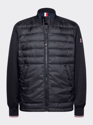 Tommy Hilfiger Mix Media Bomber Jacket Black