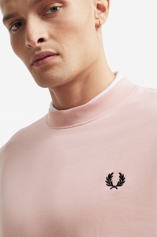 Fred Perry Crew Neck Sweatshirt Pink