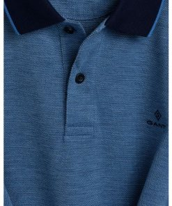 Gant 4-Color Oxford Piqué Rugger Pacific Blue