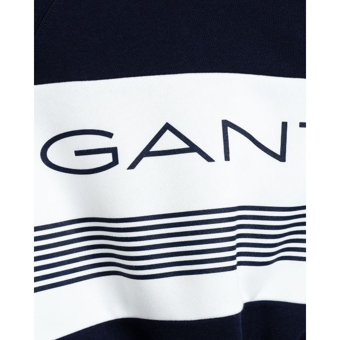 Gant Stripe C-Neck Sweat Blue