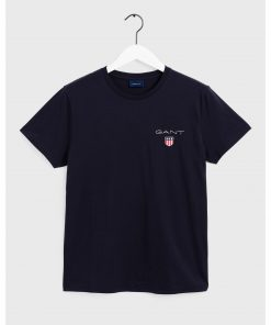 Gant Medium Shield Ss T-Shirt Sininen