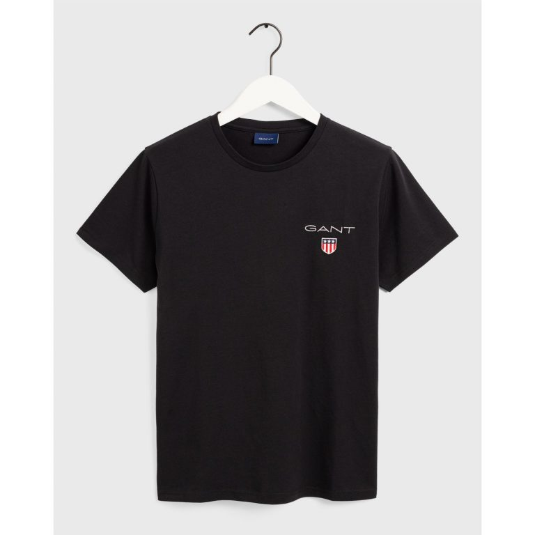 Gant Medium Shield Ss T-Shirt Musta