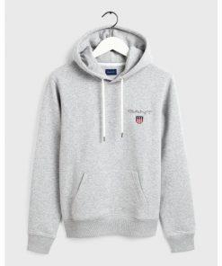 Gant Medium Shiel Hoodie Grey
