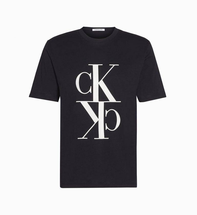 Calvin Klein Mirrored Monogram T-Shirt Black