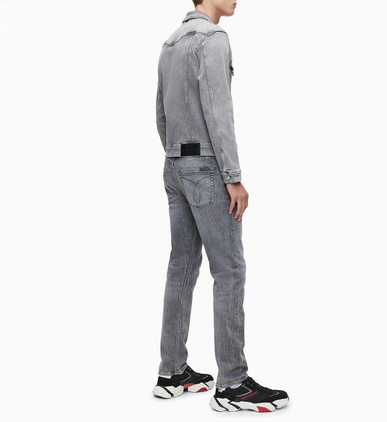 Calvin Klein Jeans Slim Denim Jacket Grey