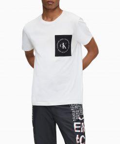 Calvin Klein Round Logo Pocket T-shirt White