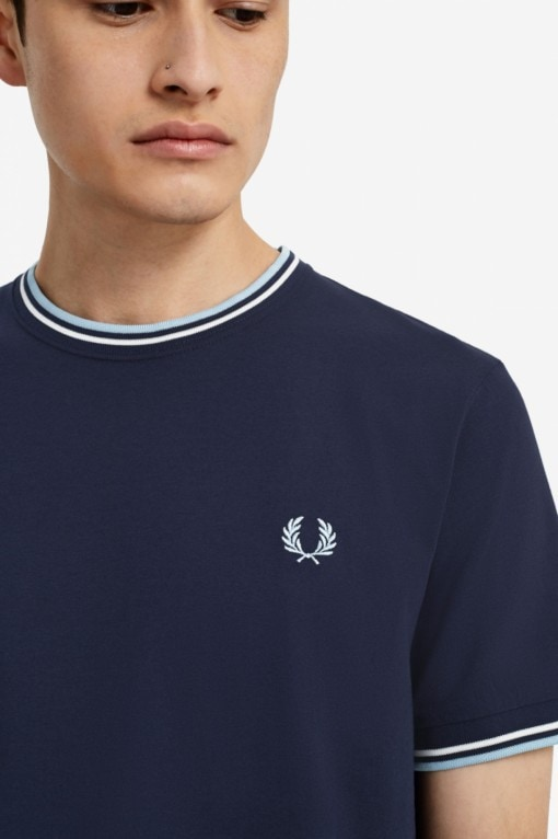 Fred Perry Twin Tipped T-shirt navy