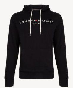 Tommy Hilfiger Logo Hoodie Black