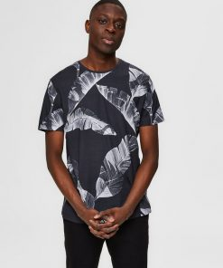 Selected Tony Print Tee Black