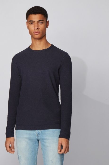 Hugo Boss Tempest Long-Sleeve T-Shirt Navy Blue