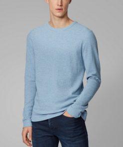 Hugo Boss Tempest Long-Sleeve T-Shirt Light Blue