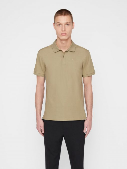J.Lindeberg Troy Cotton Polo Shirt Green