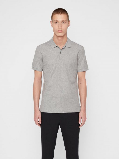 J.Lindeberg Troy Cotton Polo Shirt Grey