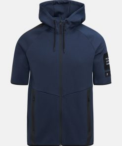 Peak Performance Tech Zip SS Hood Blue