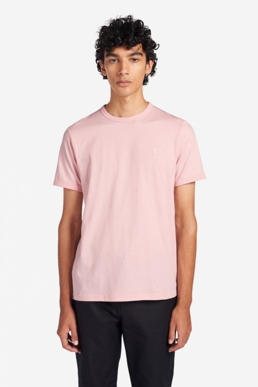 Fred Perry Ringer T-shirt Light Pink