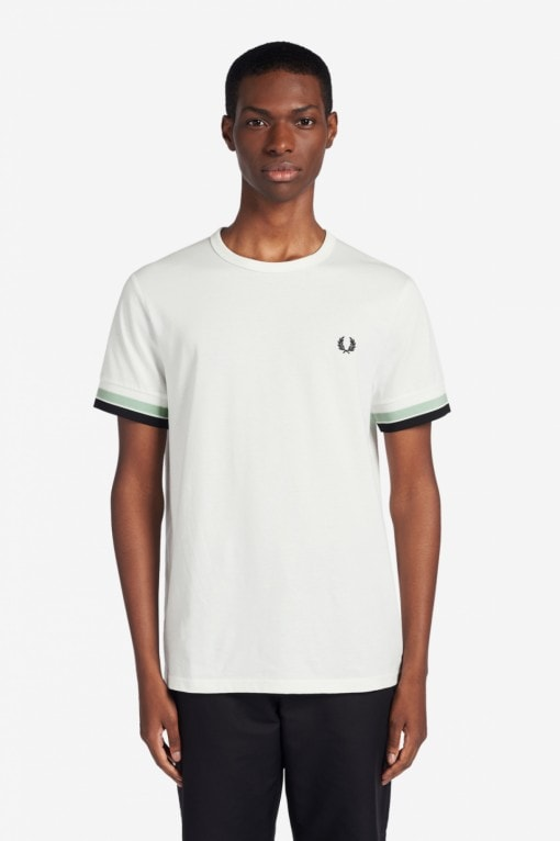 Fred Perry Bold Tipped T-Shirt White