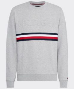 Tommy Hilfiger Embossed Sweatshirt Grey