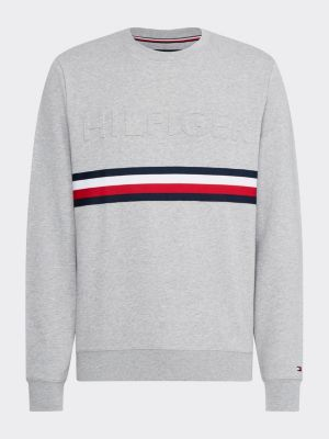 Tommy Hilfiger Embossed Sweatshirt Grey