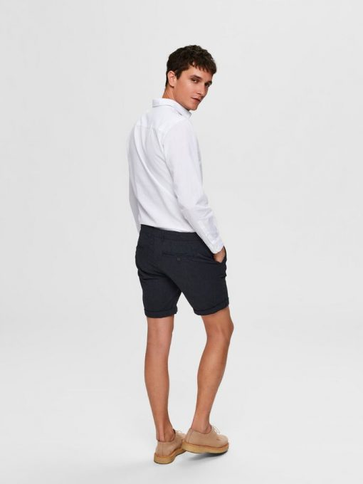 Selected Homme Paris Straight Fit Shorts Navy Blazer