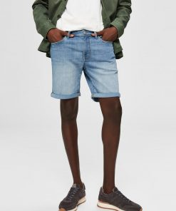Selected Super-stretch Denim Shorts Light Blue Denim