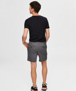 Selected Homme Jersey Shorts Grey