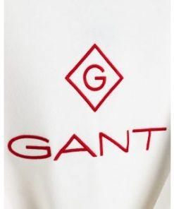 Gant Color Lock Up C-Neck Sweatshirt Eggshell