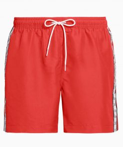 Calvin Klein Drawstring Swim Shorts Red