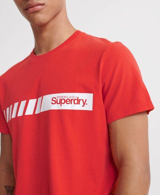 Superdry Core Logo Sport Stripe Tee Grenadine