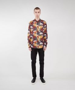 Makia x Von Wright Flowers Shirt Black