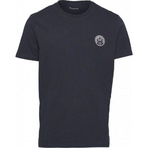 Knowledge Cotton Apparel Adler Owl T-shirt Blue