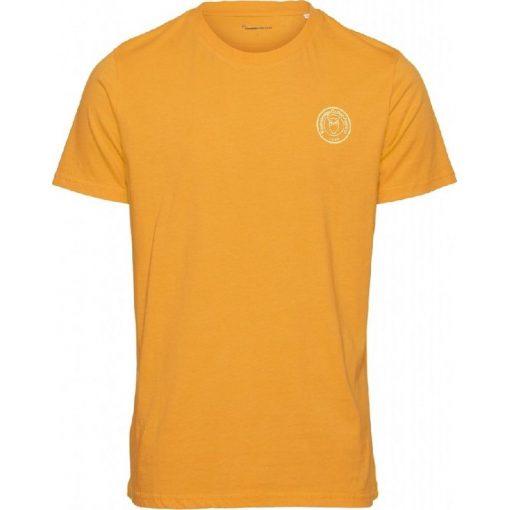 Knowledge Cotton Apparel Alder Owl T-shirt Yellow