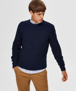Selected Homme Cornelius Structure Knit Navy Blazer Blue