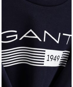 Gant 13 Stripes C-neck Sweater Evening Blue