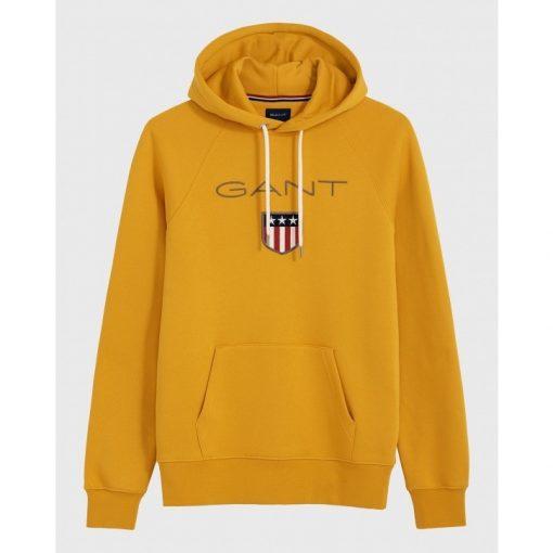 Gant Shield Hoodie Ivy Gold