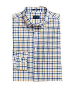 Gant Oxford Madras Shirt Ivy gold