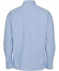 Knowledge Cotton Apparel Elder Regular Fit Shirt Blue