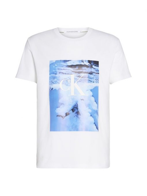 Calvin Klein Jeans Wave Photoprint T-shirt White