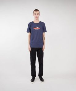 Makia Steamboat T-shirt Navy